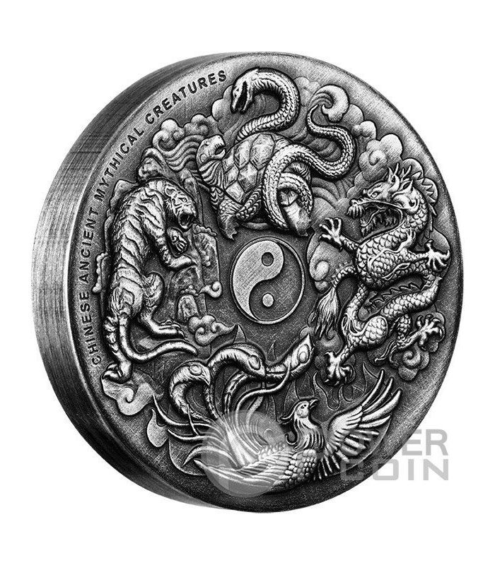 Chinese Ancient Mythical Creatures Yin Yang High Relief 2