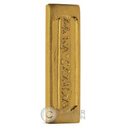 GOLD PRESSED LATINUM SLIP Star Trek Deep Space Nine 1 Oz  Silver Gold Plated Bar 2016