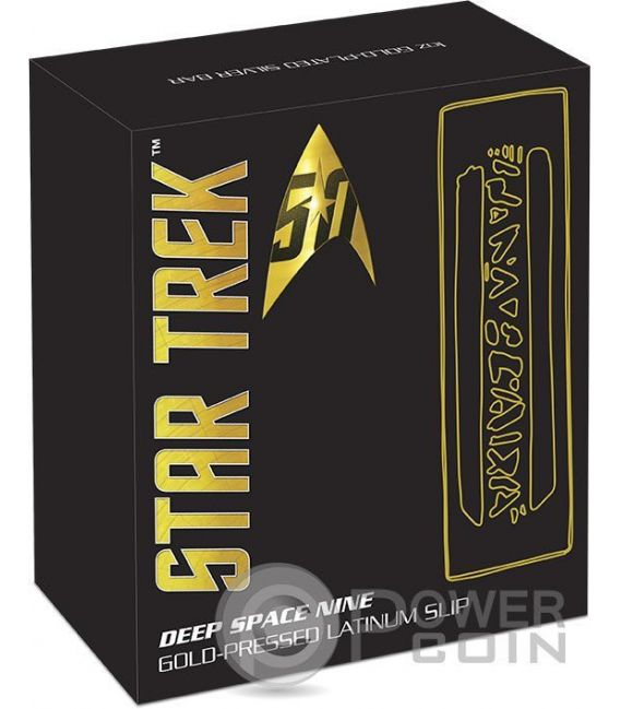 GOLD PRESSED LATINUM SLIP Star Trek Deep Space Nine 1 Oz  Barra Argento 2016