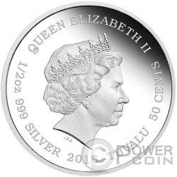 JAGUAR CUBS Baby Moneda Plata 50 Cents Tuvalu 2016