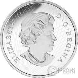 AUTUMN RADIANCE Maple Leaf Murano Glass 5 Oz Silver Coin 50$ Canada 2016