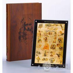 DA VINCI CODEX Disegni Studi Leonardo 5 Anniversario 24 Set 1 Kg Kilo Monete Argento 1$ Niue 2011