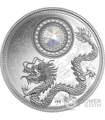 BIRTHSTONES JUNE Gemstone Swarovski Silver Coin 5$ Canada 2016