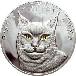LYNX LYNXES 2 Silver Coin Set Swarovski Belarus 2008