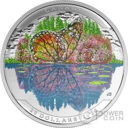 BUTTERFLY Landscape Illusion Silber Münze 20$ Canada 2016