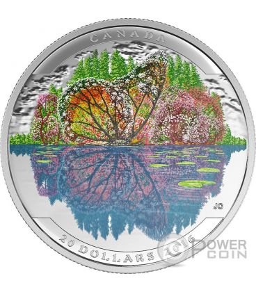 BUTTERFLY Landscape Illusion Silver Coin 20$ Canada 2016