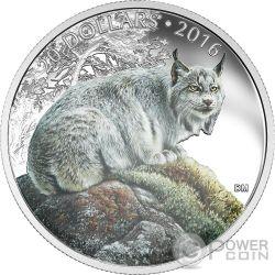 LYNX Lince Canadese Majestic Animal Moneta Argento 20$ Canada 2016
