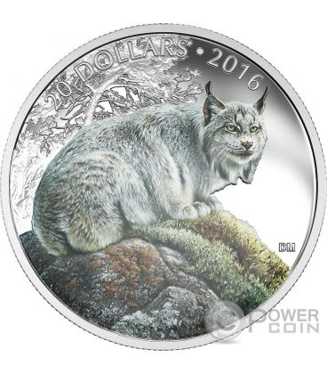 LYNX Canadian Majestic Animal Silver Coin 20$ Canada 2016