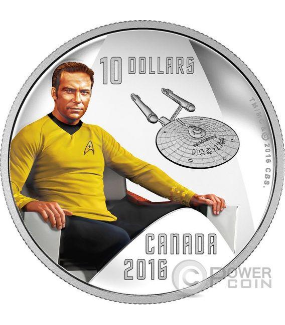CAPTAIN KIRK Capitano Star Trek Moneta Argento 10$ Canada 2016