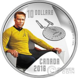 CAPTAIN KIRK Star Trek Silver Coin 10$ Canada 2016