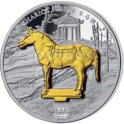 TERRACOTTA ARMY 4 Silber Münze Set China Emperor Xi An Laos 2009