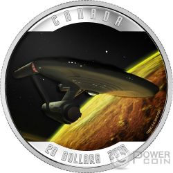 ENTERPRISE Spaceship Star Trek Silver Coin 20$ Canada 2016