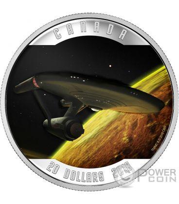 ENTERPRISE Astronave Star Trek Moneta Argento 20$ Canada 2016