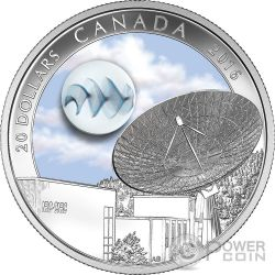 UNIVERSE Glow In The Dark Glass Fume Silver Coin 20$ Canada 2016