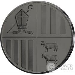 EAGLE Black Ruthenium 1 Oz Серебро Монета 1D Андора 2014