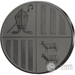 EAGLE Black Ruthenium 1 Oz Silber Münze 1D Andorra 2014