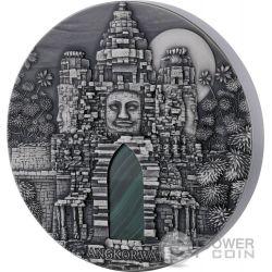 ANGKOR WAT Malachite 1 Kg Kilo Серебро Монета 10.000 Франков Конго 2016