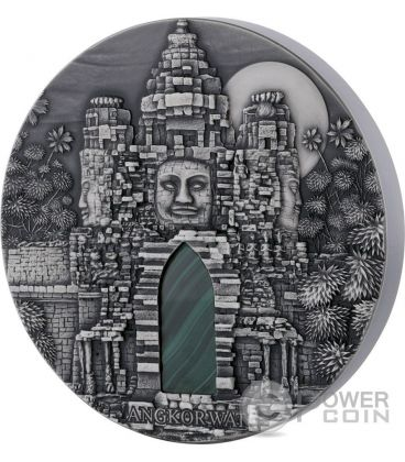ANGKOR WAT Malachite 1 Kg Kilo Silver Coin 10.000 Francs Congo 2016