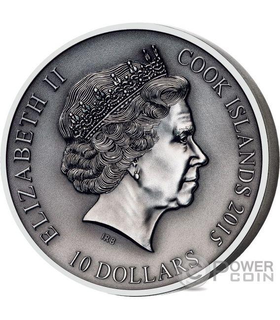 FRIGG Norse Gods High Relief 2 Oz Silver Coin 10$ Cook Islands 2016