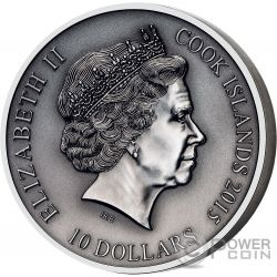 FREYR Norse Gods High Relief 2 Oz Silver Coin 10$ Cook Islands 2016