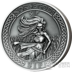 SIF Norse Gods High Relief 2 Oz Silver Coin 10$ Cook Islands 2016