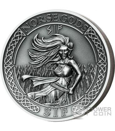 SIF Norse Gods Alti Rilievi 2 Oz Moneta Argento 10$ Cook Islands 2016