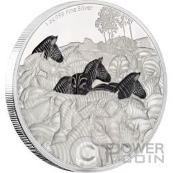 ZEBRA Great Migrations 1 Oz Silver Coin 2$ Niue 2016