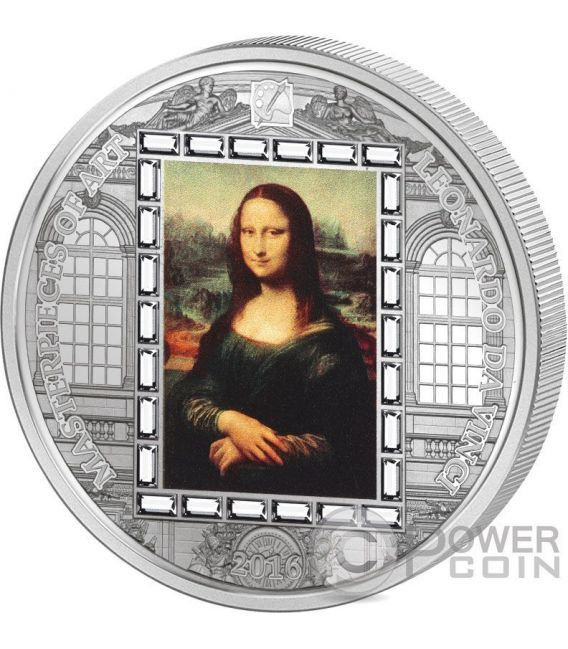 MONA LISA Leonardo da Vinci Masterpieces of Art 3 Oz Moneta Argento 20$ Cook Islands 2016