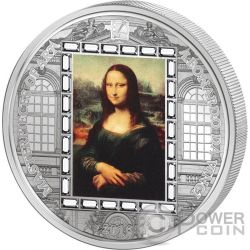 MONA LISA Leonardo da Vinci Masterpieces of Art 3 Oz Moneta Argento 20$ Cook Islands 2016