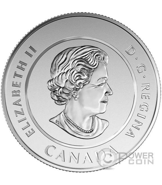 TYRANNOSAURUS REX Meteorite Dinosaurs Moneda Plata 20 Dollars Canada 2016
