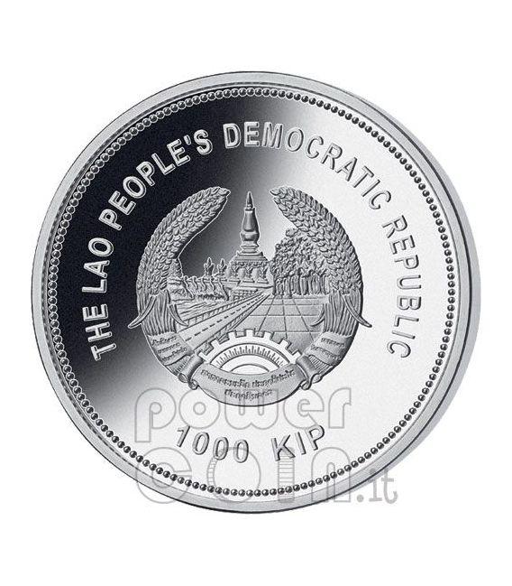 ESERCITO DI TERRACOTTA Set 4 Monete Argento Cina Xi An Laos 2009