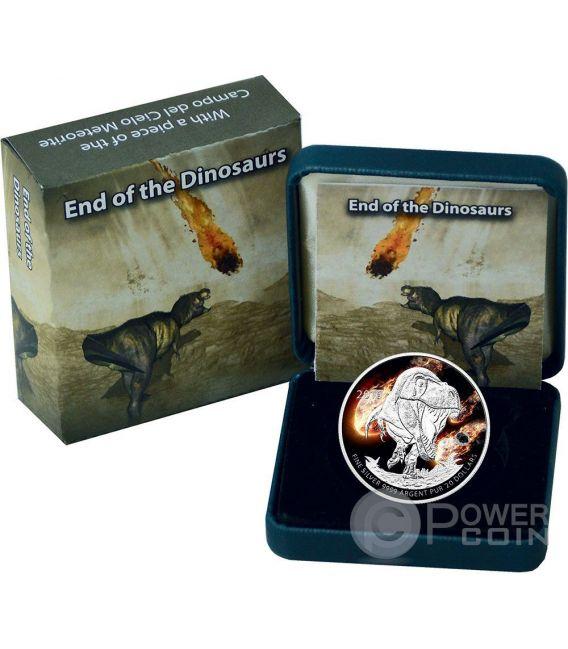 TYRANNOSAURUS REX Meteorite Dinosaurs Silber Münze 20 Dollars Canada 2016