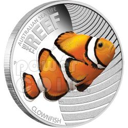 CLOWNFISH NEMO Australian Sea Life Silver Coin 50c Australia 2010