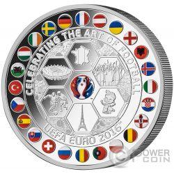 UEFA EURO Championship Art of Football 1 Kg Kilo Silver Coin 10$ Fiji 2016