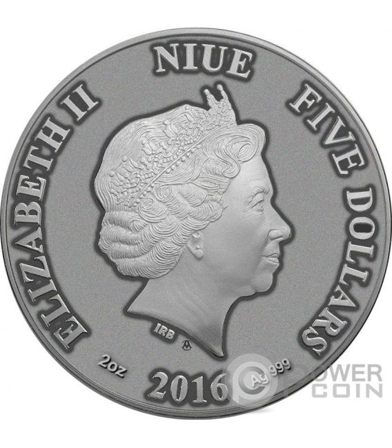 CAT Artistic Real Eye Effect 2 Oz Moneda Plata 10$ Niue 2016