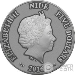 CAT Artistic Real Eye Effect 2 Oz Серебро Монета 10$ Ниуэ 2016