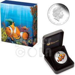 CLOWNFISH NEMO Australian Sea Life Moneda Plata 50c Australia 2010