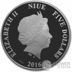 OEDIPUS AND SPHINX Greek Myths 2 Oz Серебро Монета 10$ Ниуэ 2016