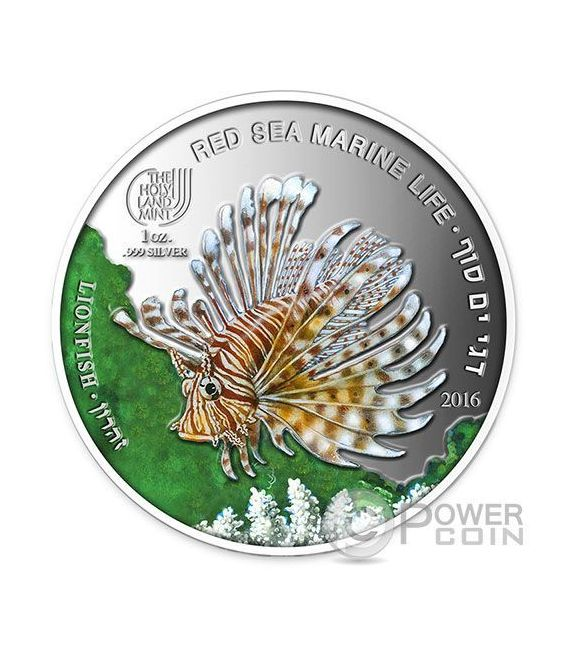 LIONFISH Red Sea Marine Life 1 Oz Silver Coin 5$ Palau 2016