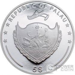 LIONFISH Red Sea Marine Life 1 Oz Moneda Plata 5$ Palau 2016