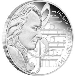 CHOPIN Frederic Great Composers Moneda Plata 1$ Tuvalu 2010