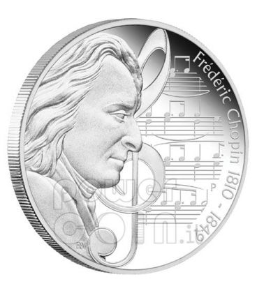 CHOPIN Frederic Great Composers Silver Coin 1$ Tuvalu 2010