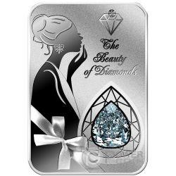MILLENNIUM STAR The Beauty of Diamonds 1 Oz Silver Coin 2$ Niue Island 2016