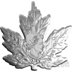 CUT OUT MAPLE LEAF Colored Silver Coin 20$ Canada 2016