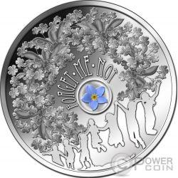 FORGET ME NOT Fiore Non Ti Scordar Di Me Moneta Argento 1$ Niue 2014