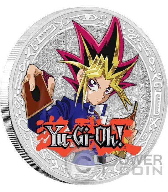 YAMI YUGI Yu Gi Oh 1 Oz Moneda Plata 2$ Niue 2016