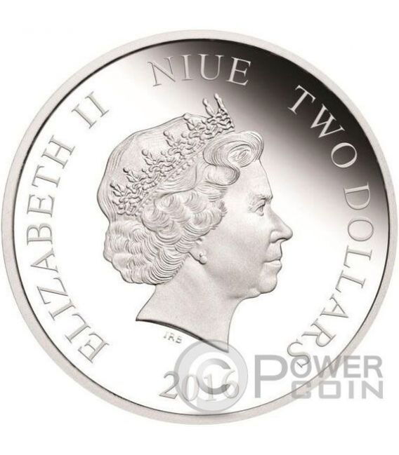 YAMI YUGI Yu Gi Oh 1 Oz Silber Münze 2$ Niue 2016