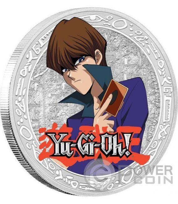 SETO KAIBA Yu Gi Oh 1 Oz Moneda Plata 2$ Niue 2016