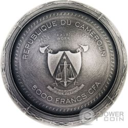 TRANS SIBERIAN RAILWAY EGG Imperial Faberge Eggs Antique Finish 7 Oz Серебро Монета 5000 Франков Камерун 2016