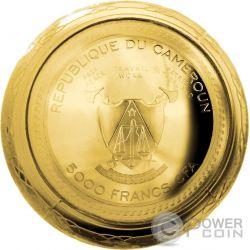 TRANS SIBERIAN RAILWAY EGG Imperial Faberge Eggs Золото Plated 7 Oz Серебро Монета 5000 Франков Камерун 2016